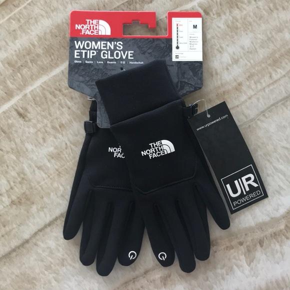 5fd0c51c7 The North Face Womens W Etip Black Gloves Medium NWT